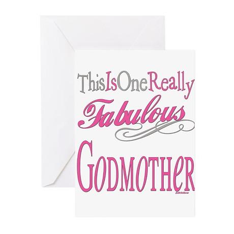 Fabulous GODMOTHER.png Greeting Cards (Pk of 10)