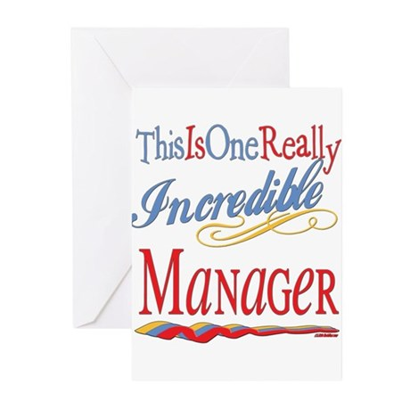 Incredible MANAGER.png Greeting Cards (Pk of 20)