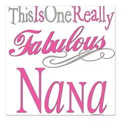 Fabulous NANA.png Square Car Magnet 3