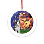 Angel3-AlaskanMalamute Ornament (Round)