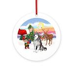 Treat for an Alaskan Malamute Ornament (Round)