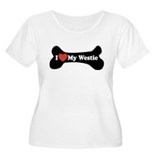 I Love My Westie - Dog Bone T-Shirt
