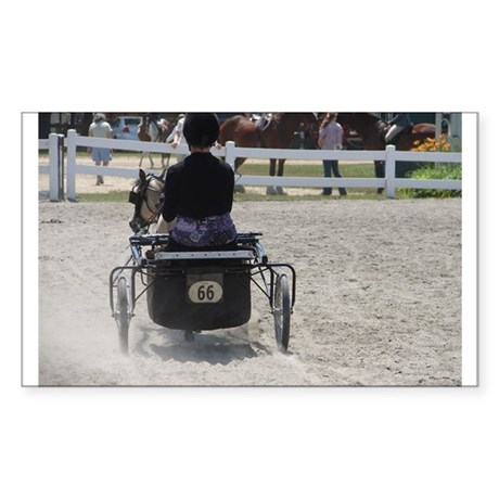 NUMBER 66 HORSE™ Sticker (Rectangle 50 pk)