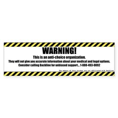 WARNING Rectangle Bumper Sticker