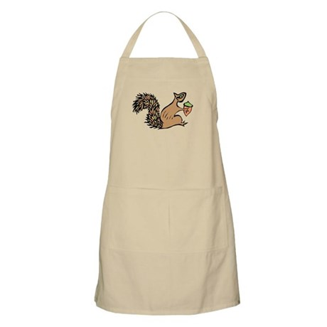 Squirrely with Acorn Apron