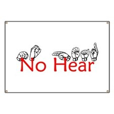 No Hear Banner