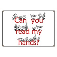Can You Read My Hands Banner