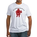 Quit Picking on the Fat Kid Fitted T-Shirt