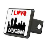 I Love California2.png Rectangular Hitch Cover