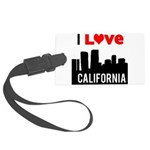 I Love California2.png Large Luggage Tag