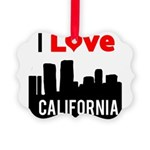 I Love California2.png Picture Ornament