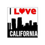 I Love California2.png Square Sticker 3