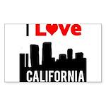 I Love California2.png Sticker (Rectangle 10 pk)