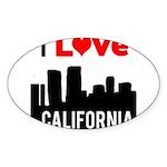 I Love California2.png Sticker (Oval 10 pk)
