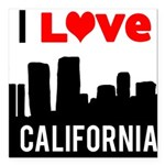 I Love California2.png Square Car Magnet 3