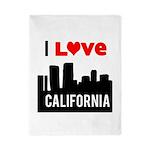 I Love California2.png Twin Duvet