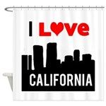 I Love California2.png Shower Curtain