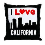 I Love California2.png Throw Pillow