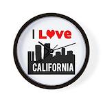 I Love California2.png Wall Clock