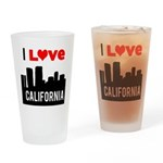 I Love California2.png Drinking Glass