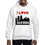 I Love California2.png Hooded Sweatshirt