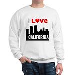 I Love California2.png Sweatshirt