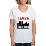 I Love California2.png Women's V-Neck T-Shirt