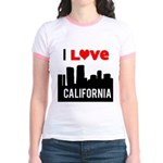 I Love California2.png Jr. Ringer T-Shirt