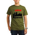 I Love California2.png Organic Men's T-Shirt (dark