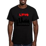 I Love California2.png Men's Fitted T-Shirt (dark)