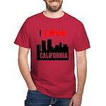 I Love California2.png Dark T-Shirt