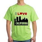 I Love California2.png Green T-Shirt