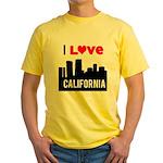 I Love California2.png Yellow T-Shirt