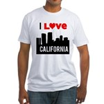 I Love California2.png Fitted T-Shirt