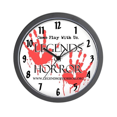 Legends of Horror Bloody Hand Wall Clock