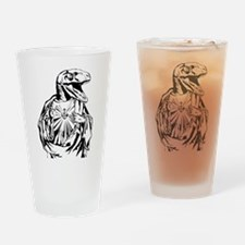 Raptor Jesus Drinking Glass