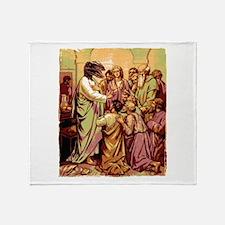 Jesus Raptor Throw Blanket