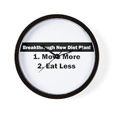 Breakthrough New Diet Plan Wall Clock
