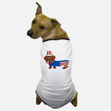 Dachshund In Uncle Sam Suit Dog T-Shirt