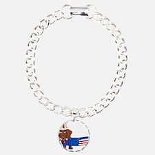 Dachshund In Uncle Sam Suit Bracelet