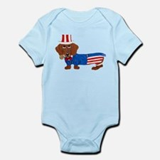 Dachshund In Uncle Sam Suit Infant Bodysuit