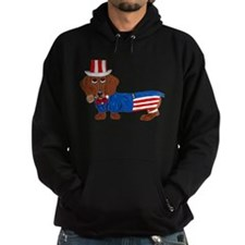 Dachshund In Uncle Sam Suit Hoodie