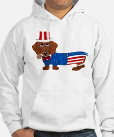 Dachshund In Uncle Sam Suit Hoodie