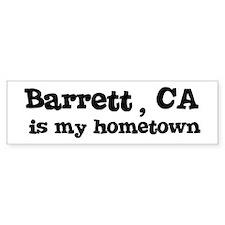 Barrett - hometown Bumper Bumper Sticker
