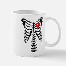 Skeleton and Heart Mug