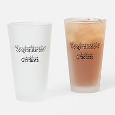Congratulations Graduate Drinking Glass
