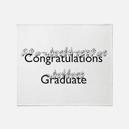 Congratulations Graduate Throw Blanket