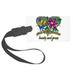 Butterflygrandmother.png Large Luggage Tag