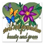 Butterflygrandmother.png Square Car Magnet 3