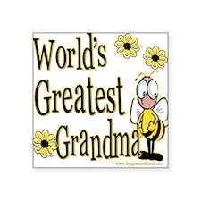 Beeworldsgreatestgrandma copy.png Square Sticker 3